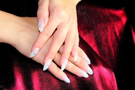 elegant nail design photo