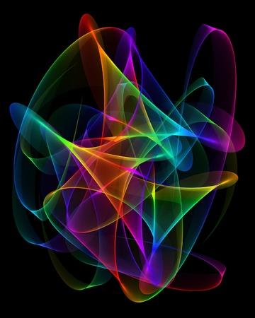 abstract design on a black background Standard-Bild