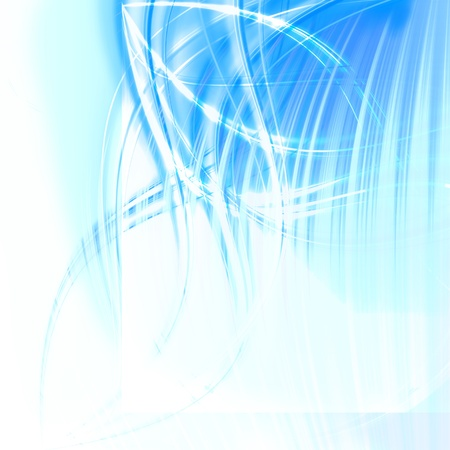 abstract blue wave  photo