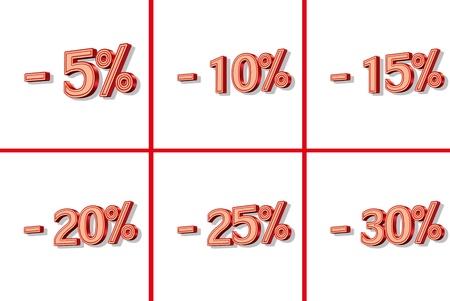 percent discount 3d symbol Stock Photo - 9164008