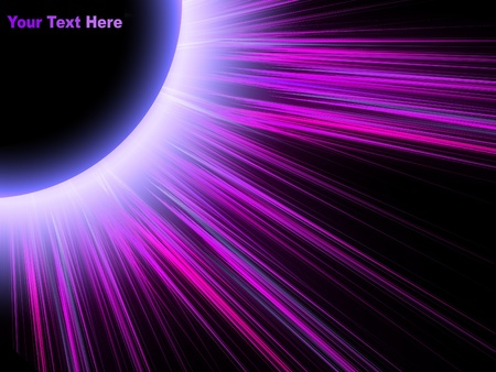 eclipse of the original colored rays on black background Stock Photo - 9163974