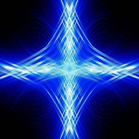 cross glowing blue background photo
