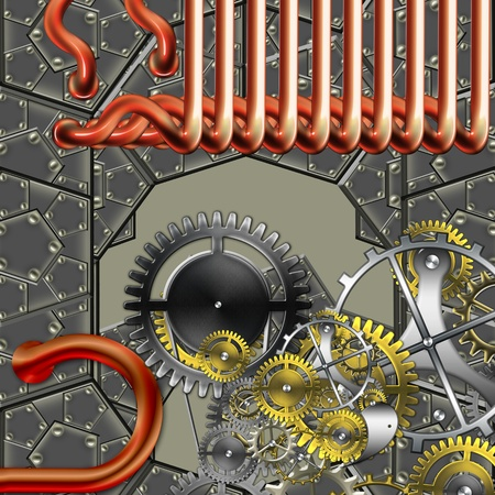 abstract industrial mechanism Stock Photo - 9275594