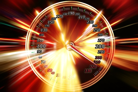 speedometer acceleration motion  Stock Photo - 9275719