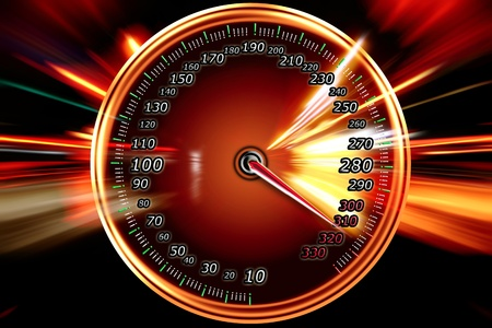 speedometer acceleration motion  Stock Photo - 9275731