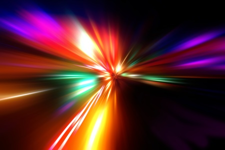 abstract acceleration speed motion on night road Stock Photo - 9379924