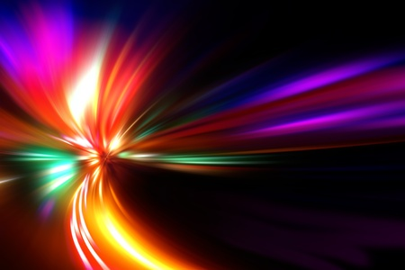 abstract acceleration speed motion on night road Stock Photo - 9379918
