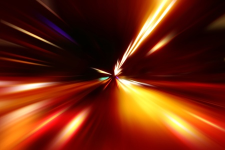 abstract acceleration speed motion on night road Stock Photo - 9379921