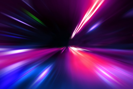 abstract acceleration speed motion on night road Stock Photo - 9379919