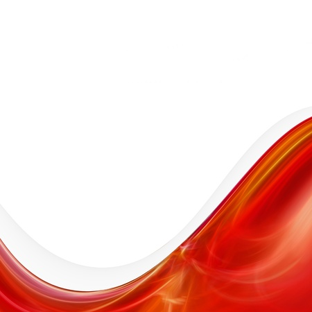 abstract red wave background Stock Photo - 9381150
