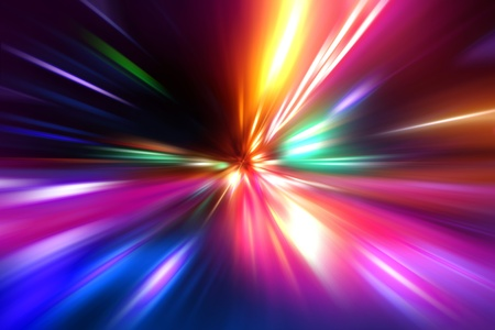 abstract acceleration speed motion on night road Stock Photo - 9483664