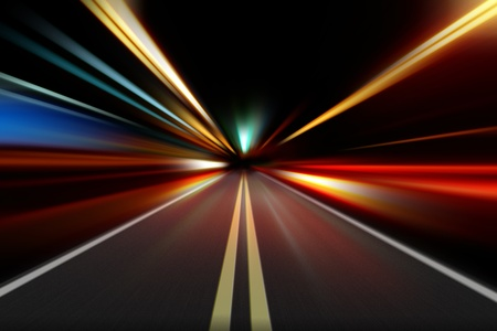 abstract night acceleration speed motion Stock Photo - 9483708