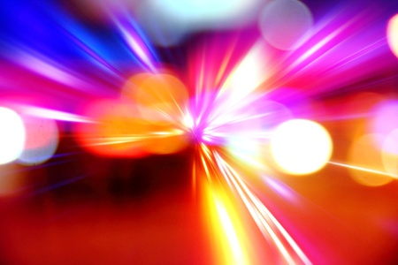 abstract acceleration speed motion on night road Stock Photo - 9513462