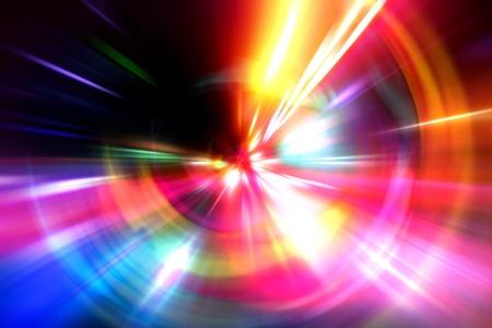 speed line: astratto accelerazione movimento di velocit� sulla strada di notte