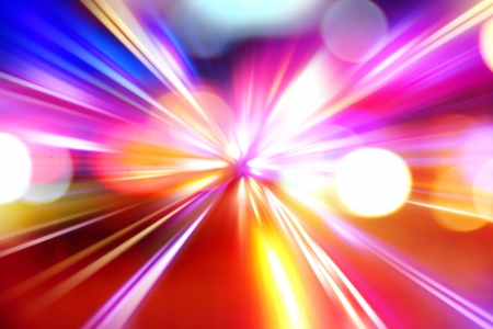 speed line: abstract acceleration speed motion on night road