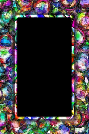abstract colorful frame photo