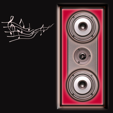 acoustic speakers system Stock Photo - 9609121