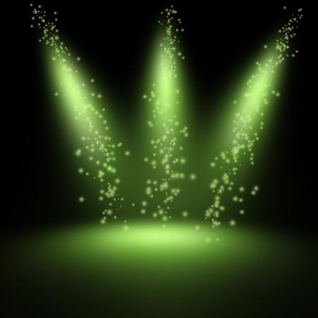 studio backdrop: scene illuminated by a spotlight Stock Photo