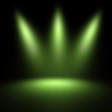 scene illuminated by a spotlight Stock Photo
