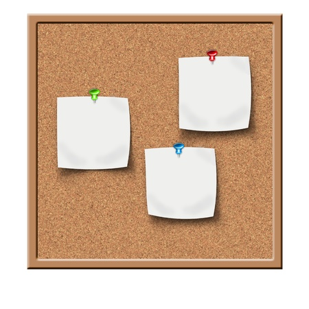 memo board: cork board with sticker reminders