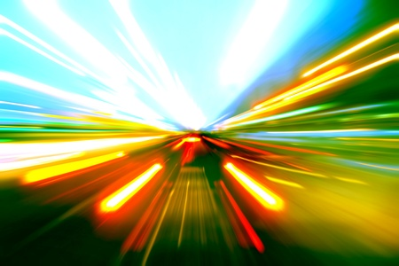 abstract acceleration motion Stock Photo - 9848675