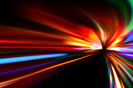 abstract night acceleration speed motion  Stock Photo - 9848673