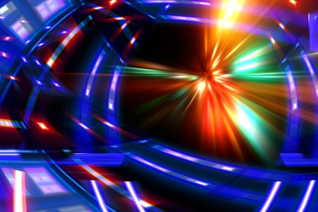 abstract night acceleration speed motion Stock Photo - 9848693