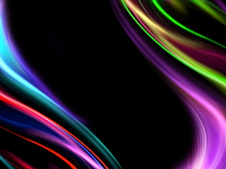 abstract wavy colorful design backdrop on a black background photo