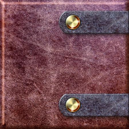 tooled leather: legatura in pelle vecchia con fermagli