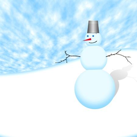 christmas snowman Stock Photo - 9923071