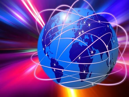 wereldwijde Internet communicatietechnologie