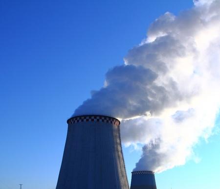 Smoking chimneys. Heat Electric Station.