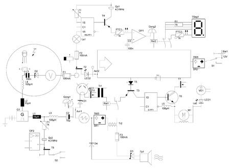 circuito electrico: circuito el�ctrico abstracto Foto de archivo
