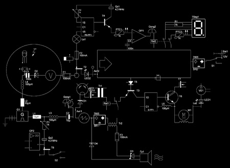 abstract electrical circuit Stock Photo