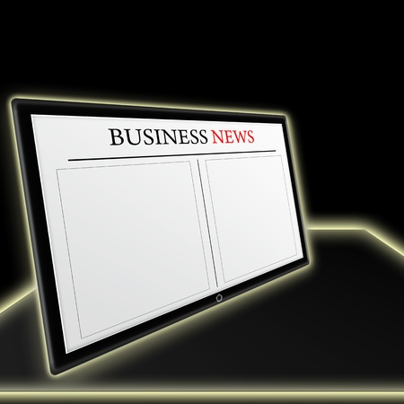 business news on tablet pc Stock Photo - 11089007