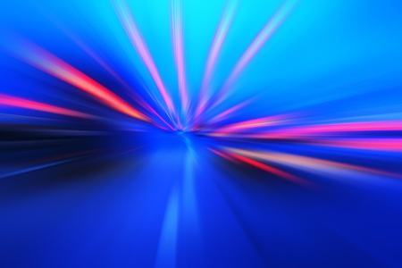 acceleration speed motion on night road Stock Photo - 11151775