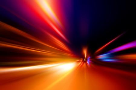 Beschleunigung Geschwindigkeit Bewegung auf Straße Nacht Standard-Bild - 11151776