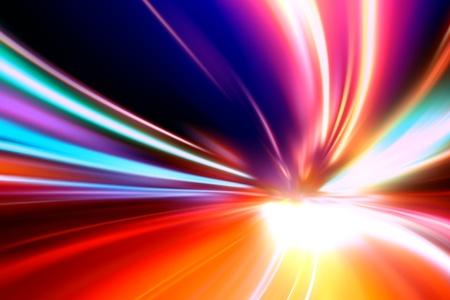 acceleration speed motion on night road Standard-Bild