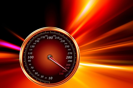 acceleration speed motion on night road Stock Photo - 11266679