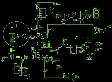 electrical circuit: astratto circuito elettrico