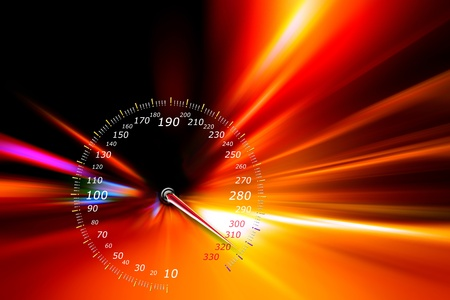 speedometer on night road Stock Photo - 11266693