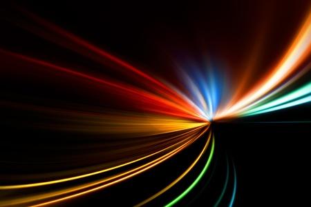 rychlý závod noční dálnice Reklamní fotografie