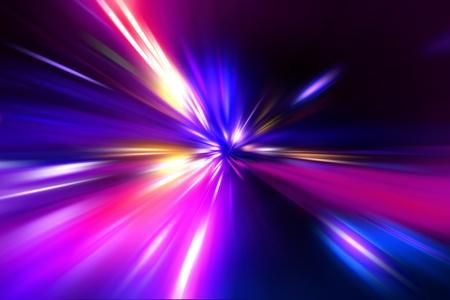 speed motion on night road Stock Photo - 11896329