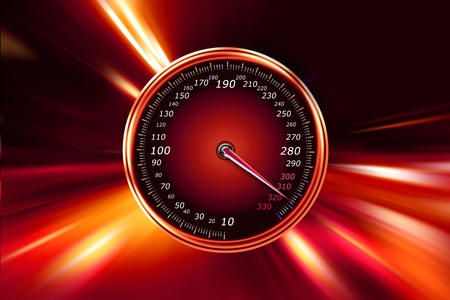acceleration speedometer on night road Stock Photo - 12016803