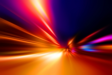 acceleration speed motion on night road Stock Photo - 14243897