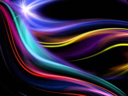 abstract colorful design on a black background photo