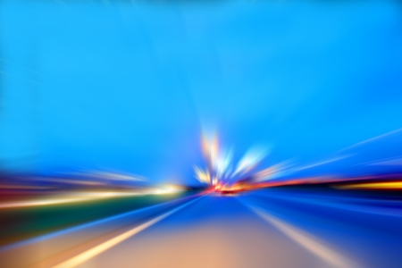 speed motion car on highway photo