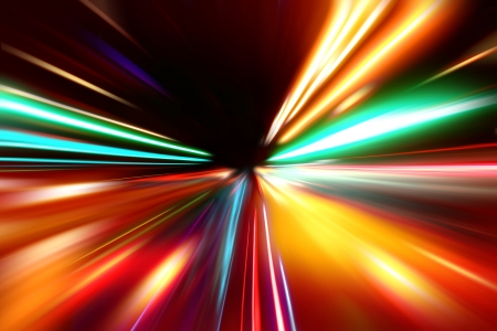 abstract acceleration speed motion on night road Stock Photo - 16385111