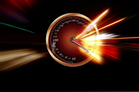 excessive speed on the speedometer Stock Photo - 16674745