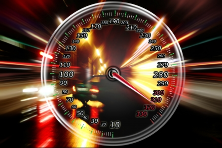 excessive speed on the speedometer Stock Photo - 16674752